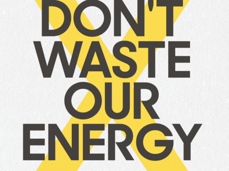 Message in image is don't waste our energy, share it with a friend instead